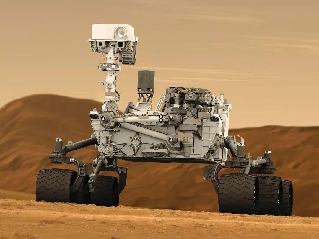 """""""好奇""""号火星车,正对火星进行勘测"""