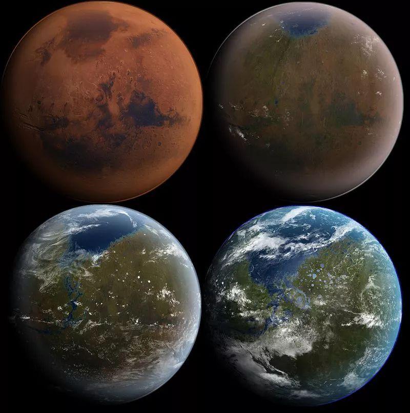 火星地球化改造过程