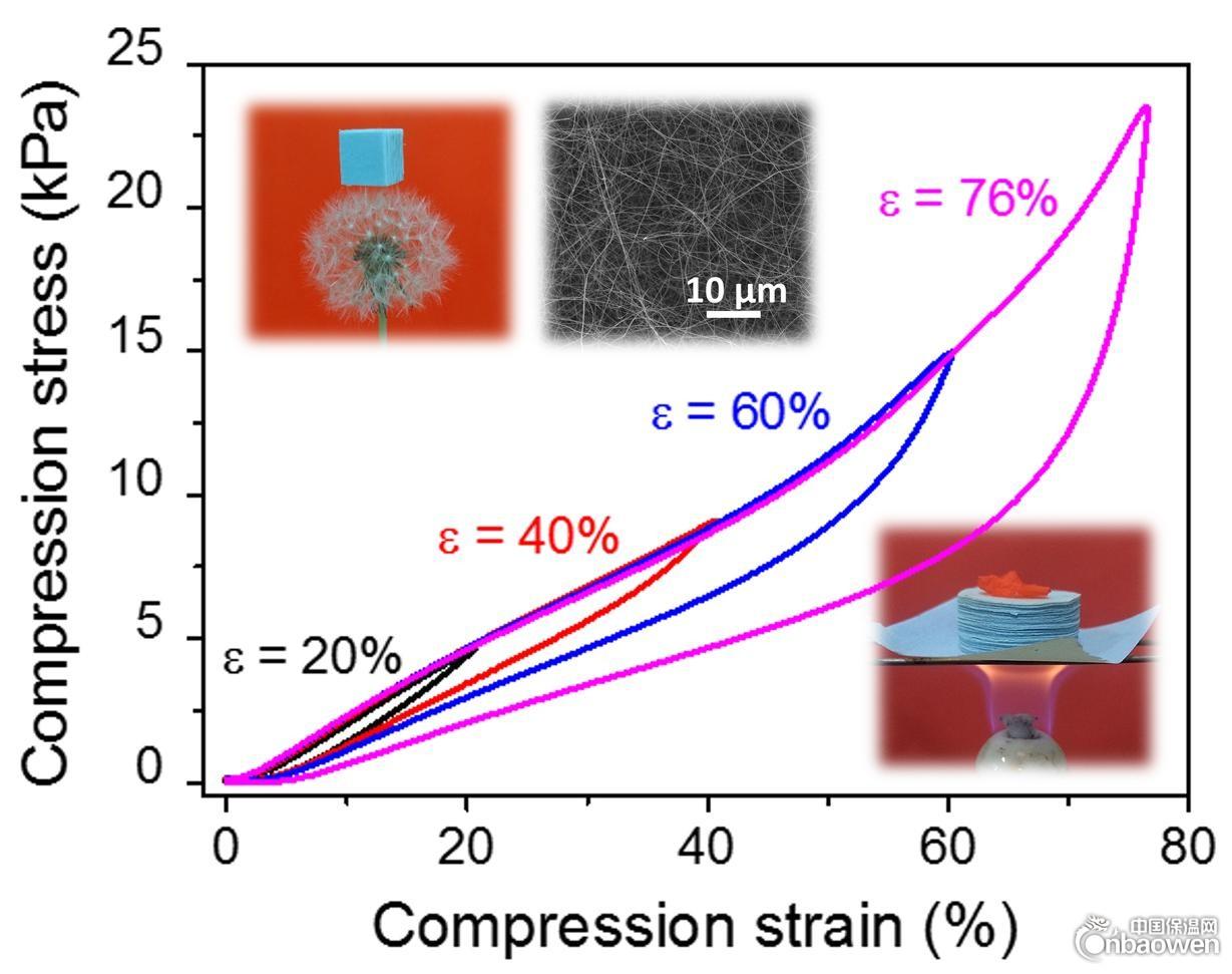 西安交大科研人員在超輕可壓縮碳化矽陶瓷氣凝膠研究領域取得進展