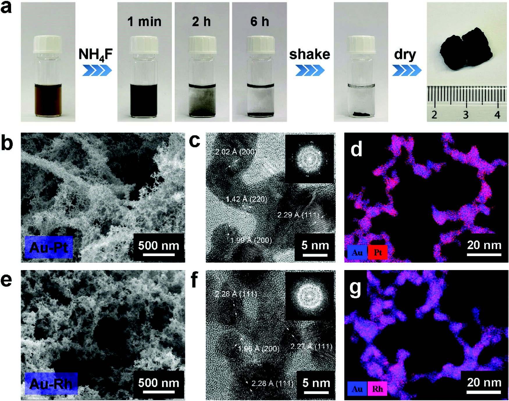 AEM: 工程多金属气凝胶pH‐通用HER和ORR电催化