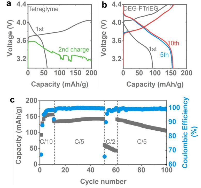 具有高電化學穩定性的新型離子導電氟化醚電解質