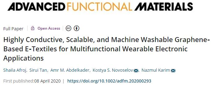 高导电性、可机洗的可穿戴电子织物